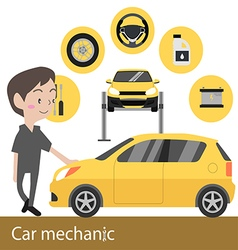 Car mechanic vector image vector image