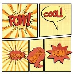 Cartoon bang2-4 vector
