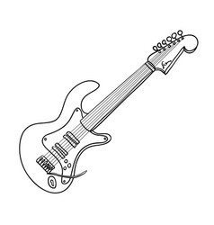 Cartoon image of guitar vector
