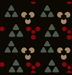 Cave signs symmetry seamless pattern vector