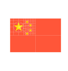 china flag vector image