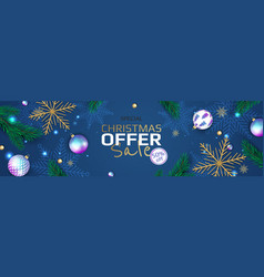 Christmas and new year background winter holiday vector