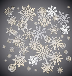Christmas snowflakes snow winter holiday ornament vector
