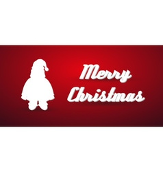 Christmas winter santa silhouette modern greeting vector