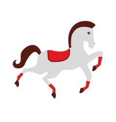 circus horse isolated icon design vector image