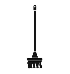 Cleaning mop icon simple style vector