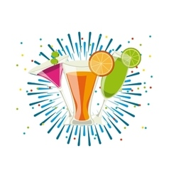 cocktails drinks icon vector image