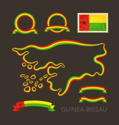 Colors of Guinea-Bissau vector