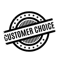 Customer Choice rubber stamp vector