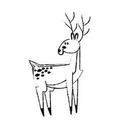 Cute deer icon image vector