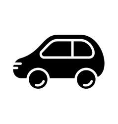 Cutout silhouette cartoon car icon outline logo vector