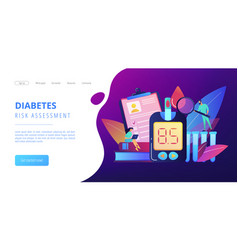 Diabetes mellitus concept landing page vector