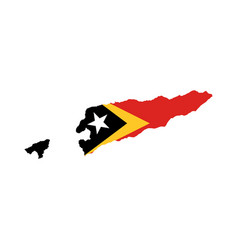 east timor flag and map vector image