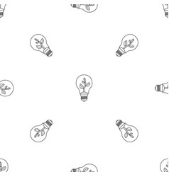 eco bulb pattern seamless vector image