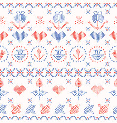 Embroidery sampler stitches seamless vector