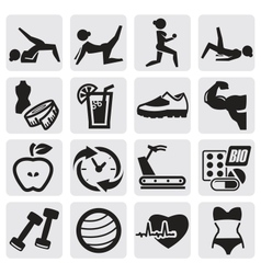 Fitness and sport set vector