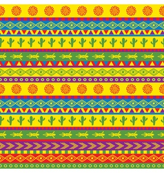 funky mexican pattern vector image