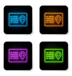 glowing neon address book icon isolated on white vector image
