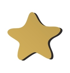 Golden star icon sign rating award best design vector