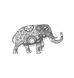 Indian elephant with decorative tribal ornament vector image