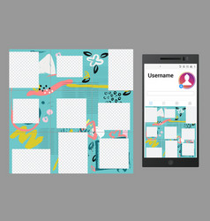 inspired instagram social media puzzle vector image