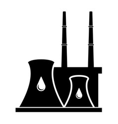 isolated oil energy plant icon vector image