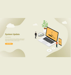 isometric 3d system update security patch concept vector image