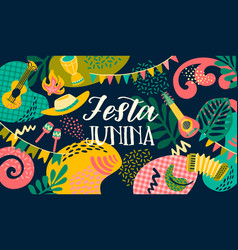 latin american holiday june party brazil vector image