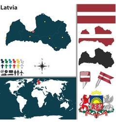 Latvia map vector