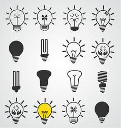 light bulb icon art set business concepts idea vector image