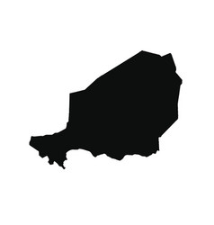 Map niger isolated black on vector