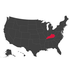 Map of usa - kentucky vector
