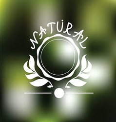 Natural Emblem design vector image