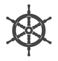 naval ship steering wheel icon flat vector image