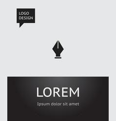 of school symbol on ink pen vector image