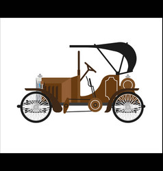 old car or vintage retro collector auto vector image