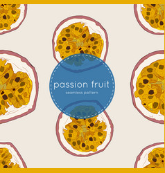 passion fruit hand draw seamless vector image