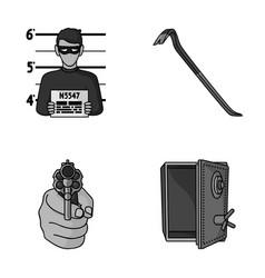 Photo of criminal scrap open safe directional vector