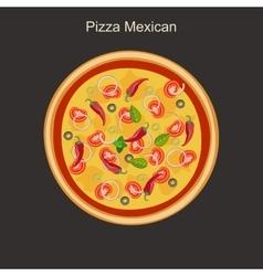 Pizza mexican vector