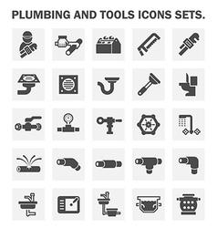 Plumbing icon vector