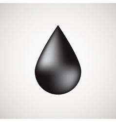 realistic black bubble drop vector image