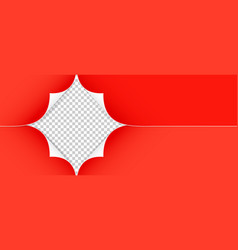Realistic red paper corners isolated on vector