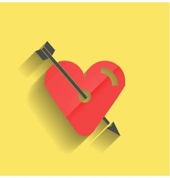 red heart icon flat design vector image