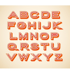 Retro constructor letters collection vector image