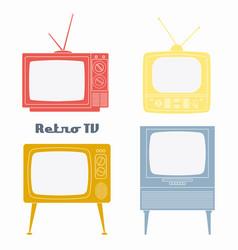 Retro television icons vector
