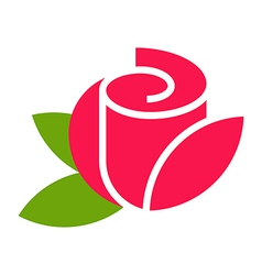 Rose - flower icon vector