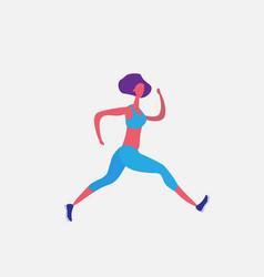 running woman cartoon character sportswoman vector image