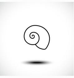 sea shell line art icon vector image