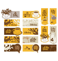 Set of banners on the theme of coffee vector