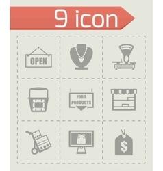 Shop icon set vector image